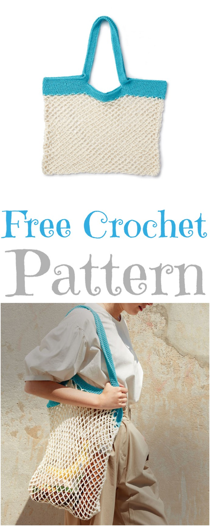 Free Easy Crochet Market Bag Pattern