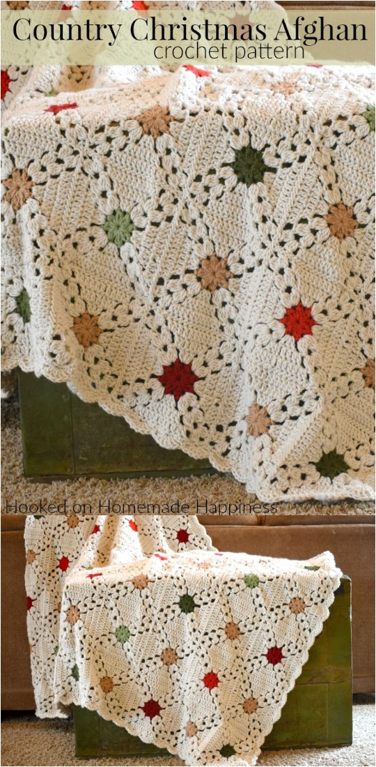 Country Christmas Afghan Crochet Pattern