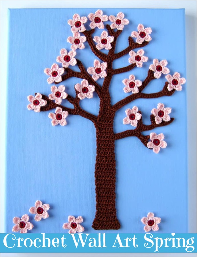 Crochet Wall Art Spring