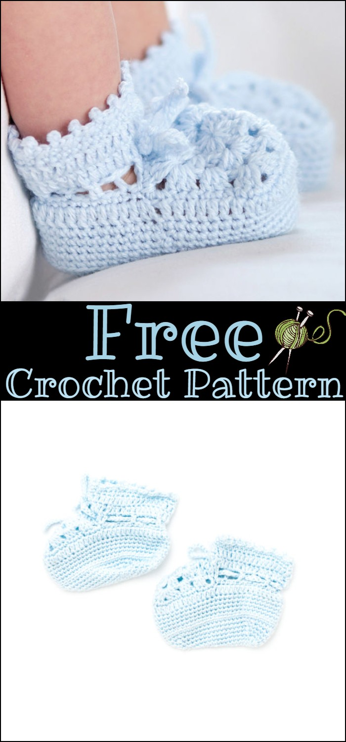 Easy Crochet Booties Pattern