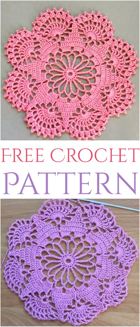 Easy To Make Doily Free Crochet Pattern