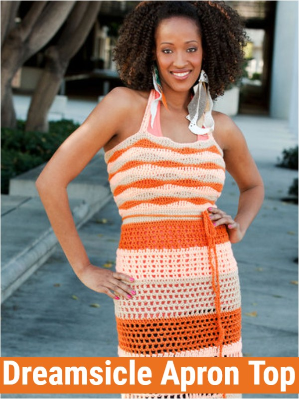 Free Crochet Dreamsicle Apron Top
