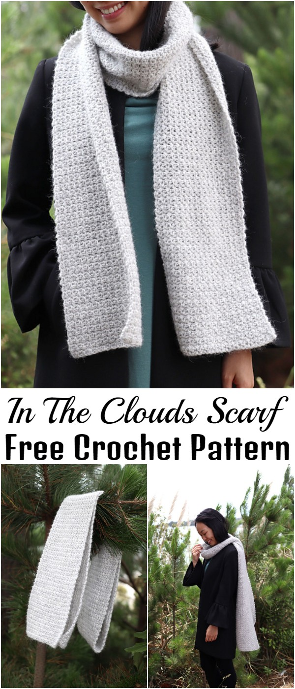 Free Crochet In The Clouds Scarf