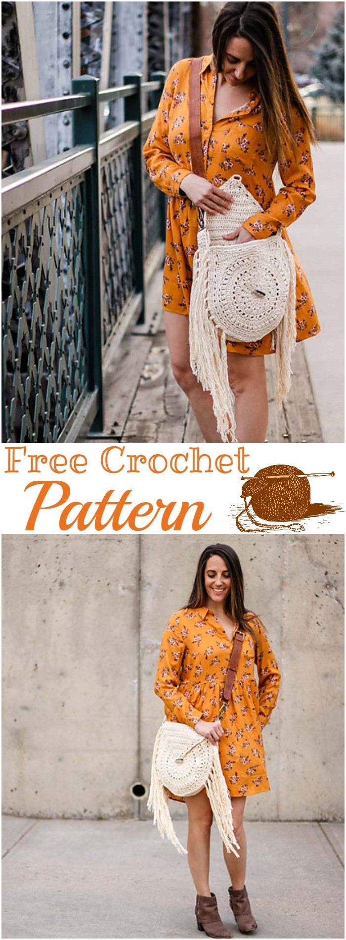Free Crochet Moonrise Boho Bag