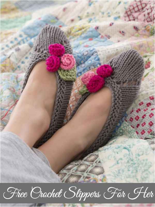Free Crochet Slippers For Her