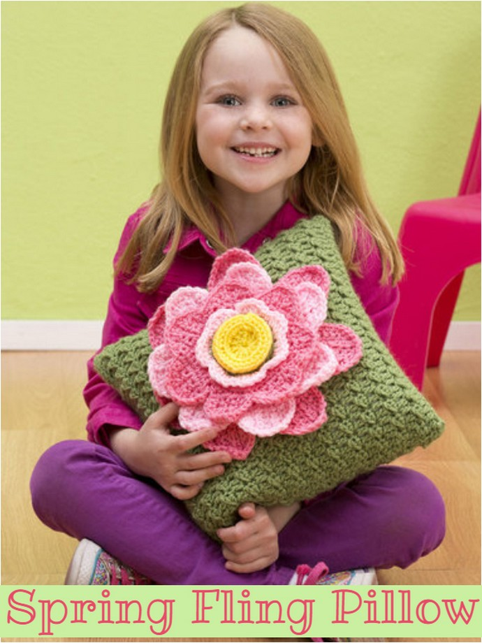 Free Crochet Spring Fling Pillow