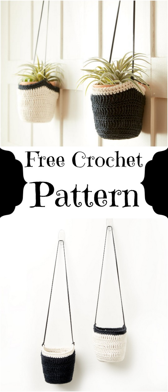 Free Easy Crochet Hanging Pot Cozy Pattern