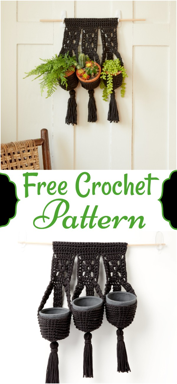 Free Easy Crochet Plant Holders Pattern