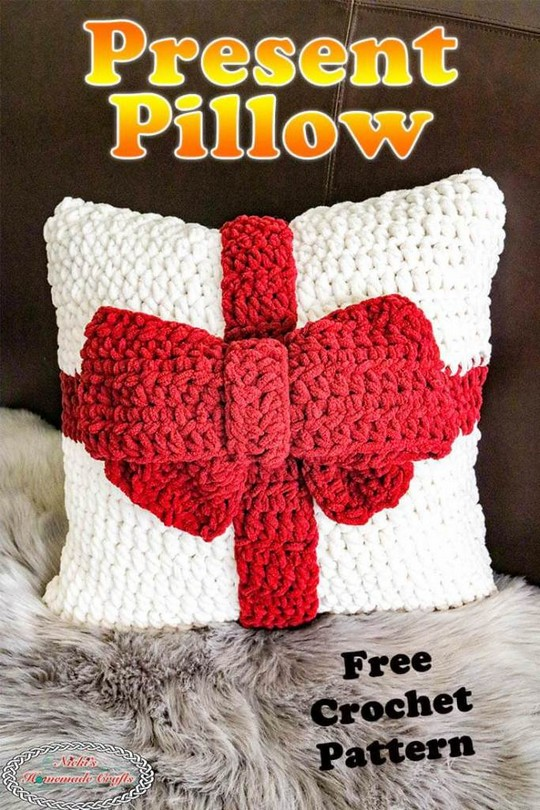 How To Crochet A Cute Gift Pillow Free Pattern