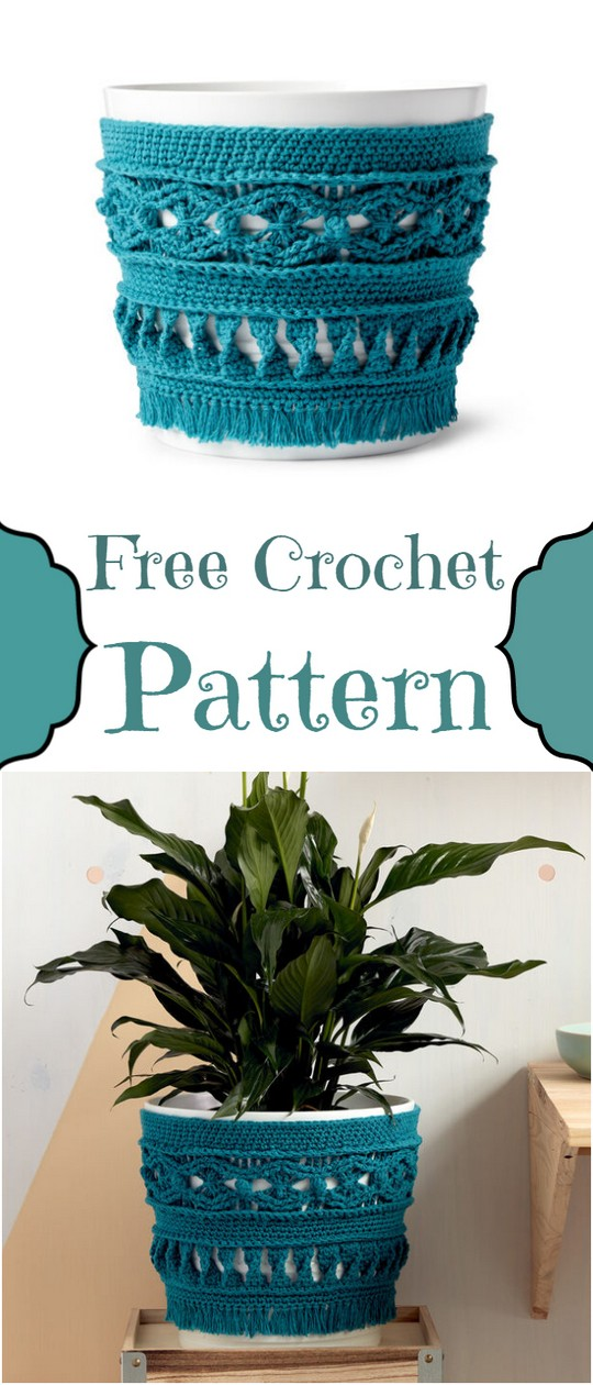Large Potted Plant Crochet Cozy