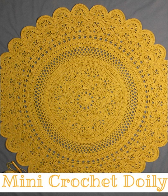 Mini Crochet Doily Free Pattern