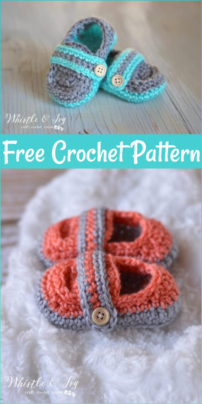 Monk Strap Booties Crochet Pattern
