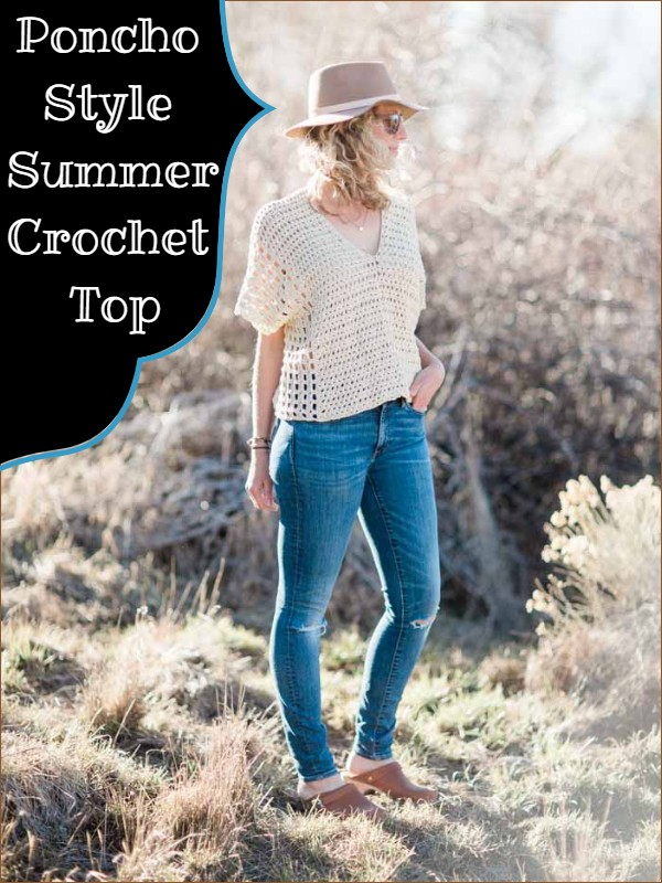 Poncho Style Summer Crochet Top Free Pattern