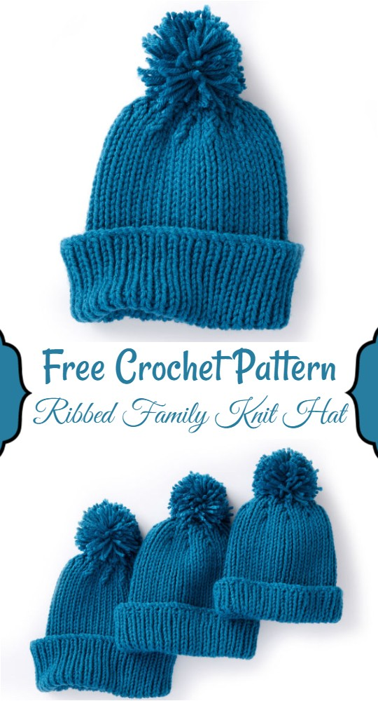 Ribbed Family Knit Hat