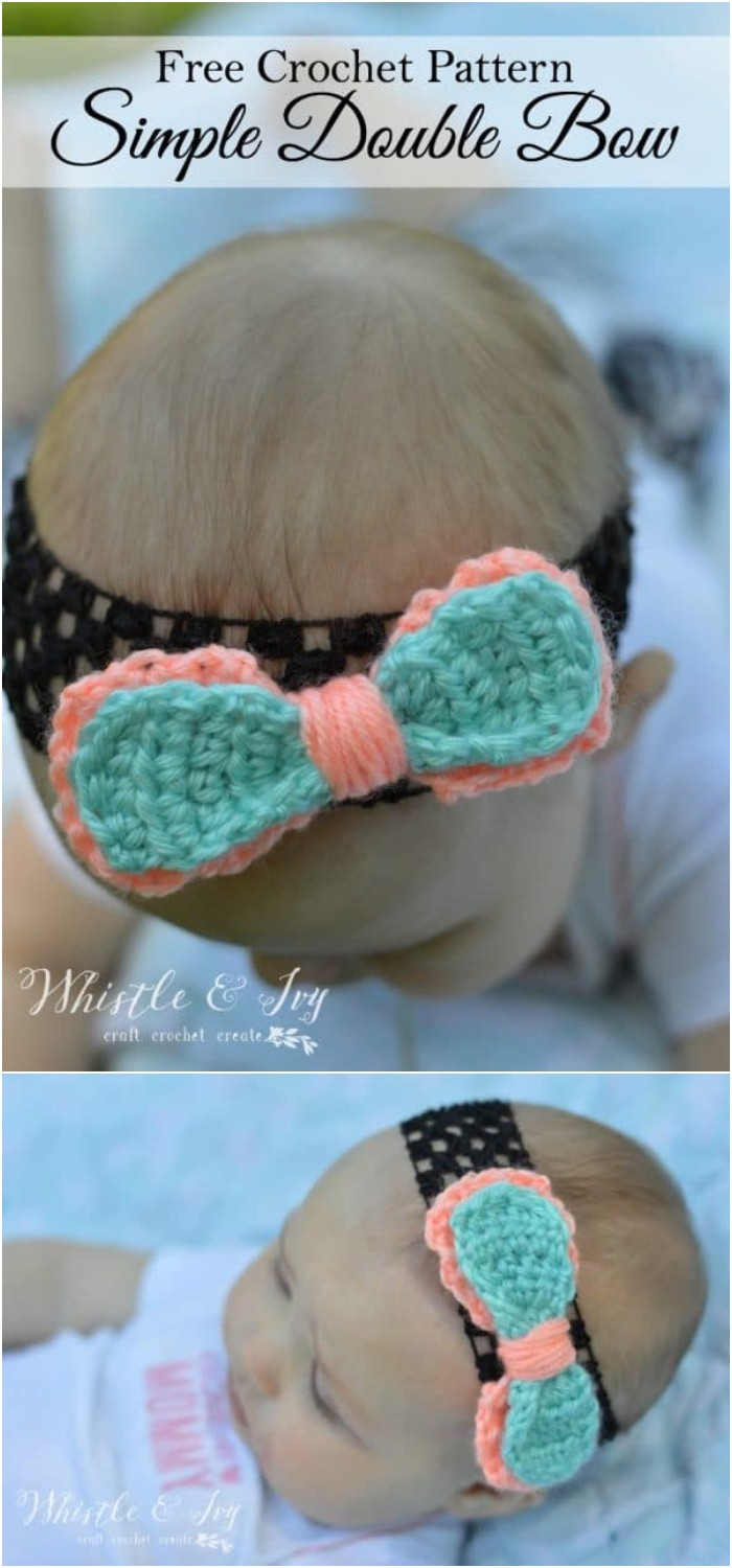 Simple Double Bow Crochet Pattern