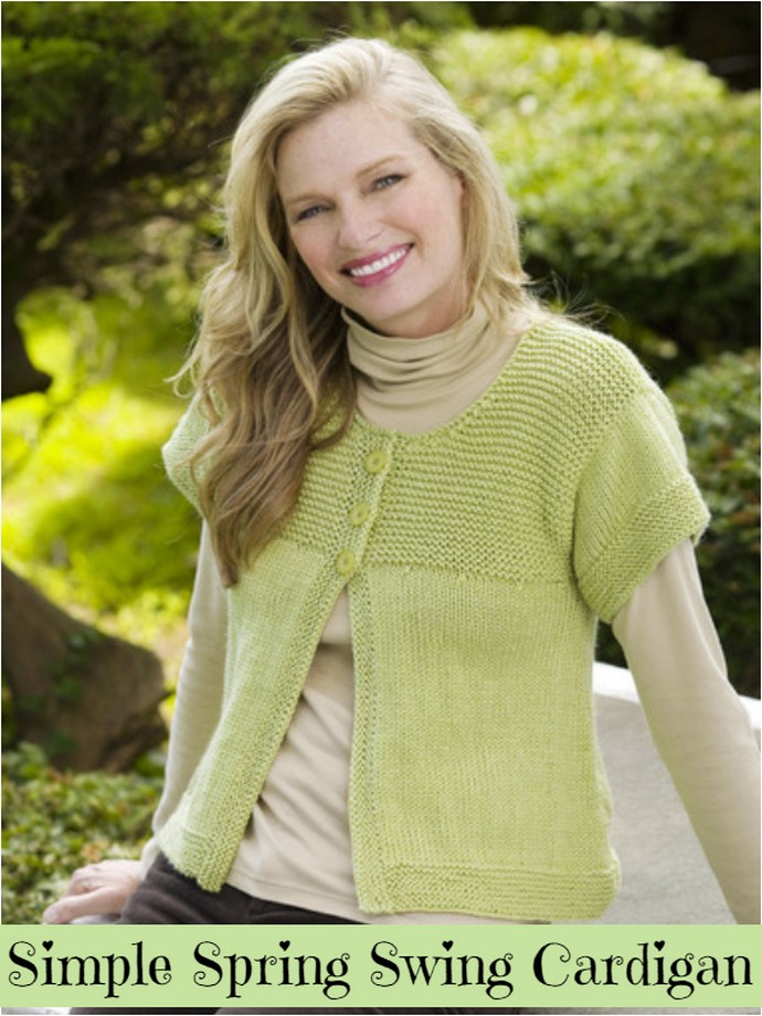 Simple Spring Swing Cardigan