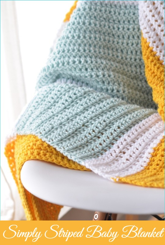 Simply Striped Baby Blanket
