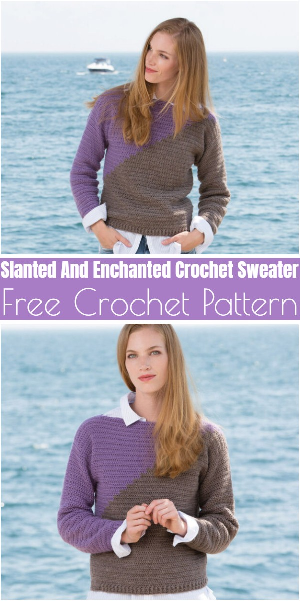 Slanted And Enchanted Crochet Sweater