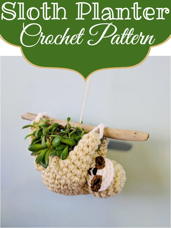 Sloth Planter Crochet Pattern