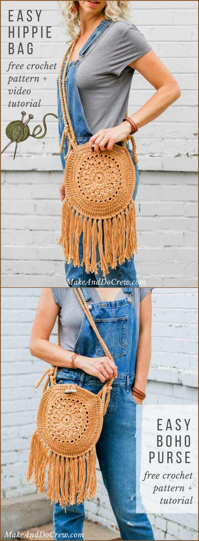 Street Fair Crochet Boho Purse Free Pattern