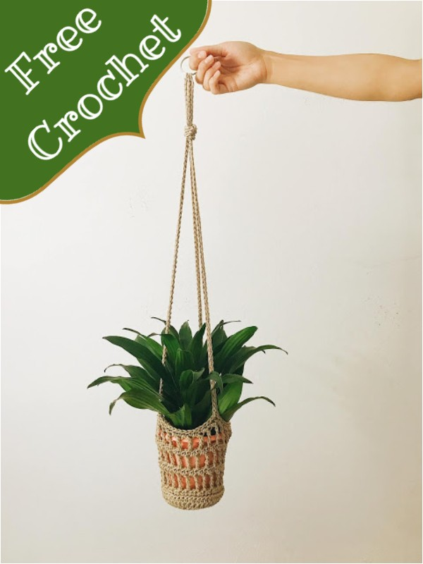 The Macrame-inspired Crochet Plant Hanger Pattern