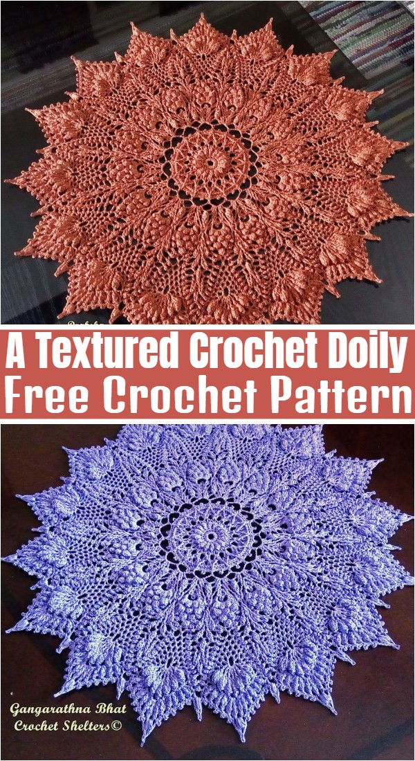 A Textured Crochet Doily Pattern