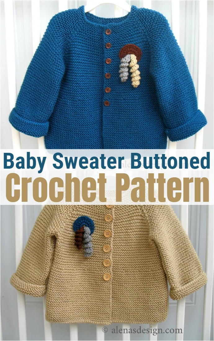 Baby Sweater Buttoned 1