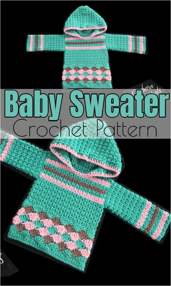 Crochet Baby Sweater 1