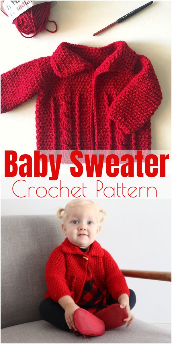 Crochet Baby Sweater 3