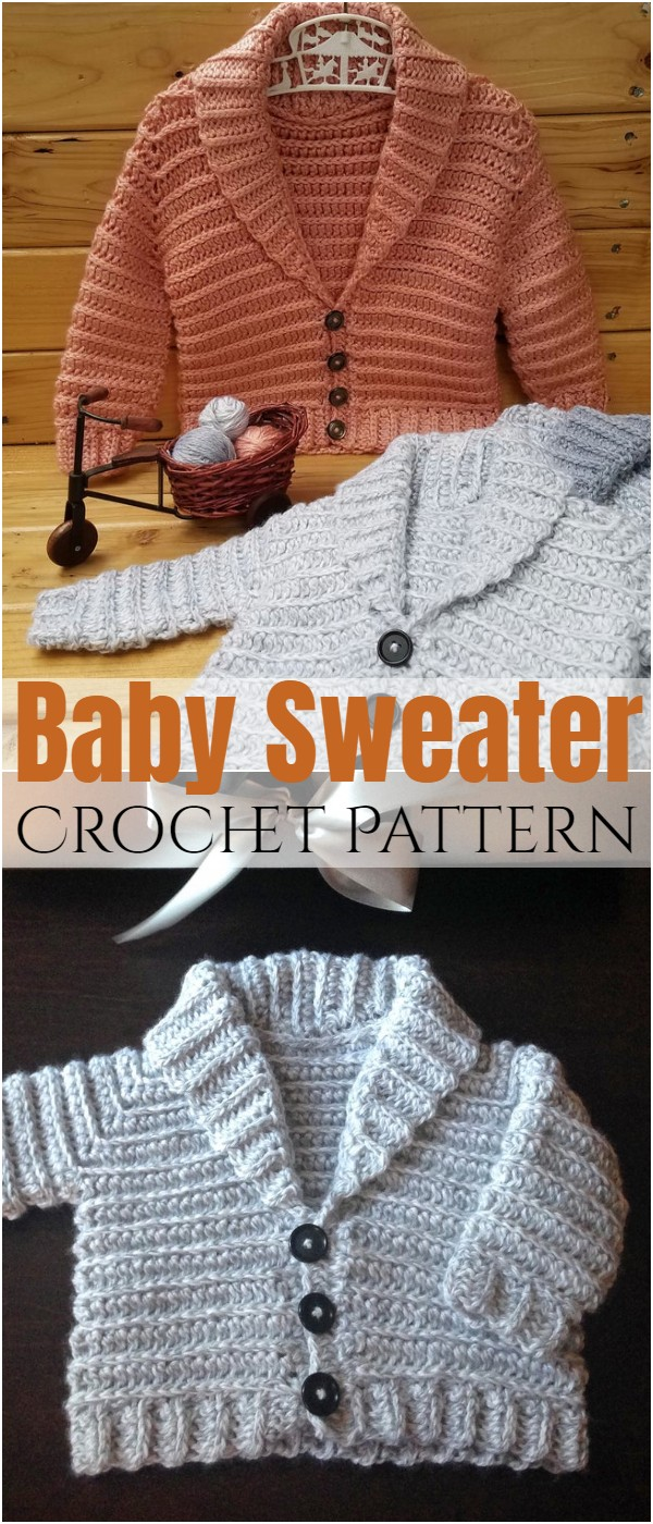 Crochet Baby Sweater 6