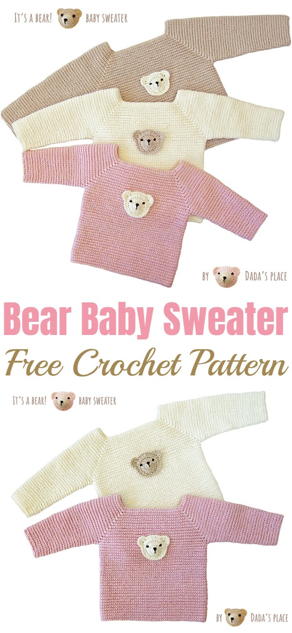 Crochet Bear Baby Sweater Pattern
