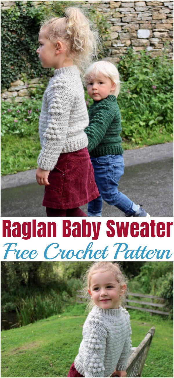 Crochet Raglan Baby Sweater Pattern