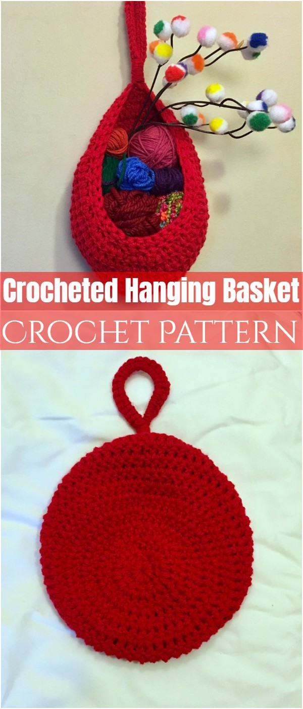 Crocheted Hanging Basket