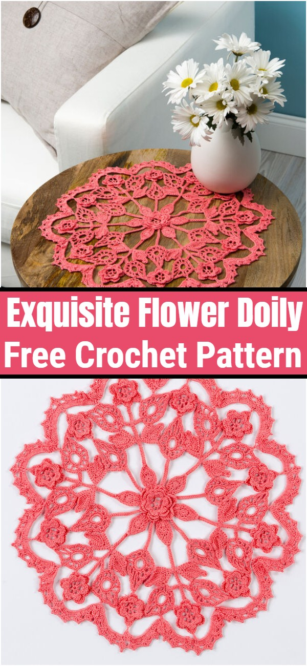 Exquisite Flower Doily