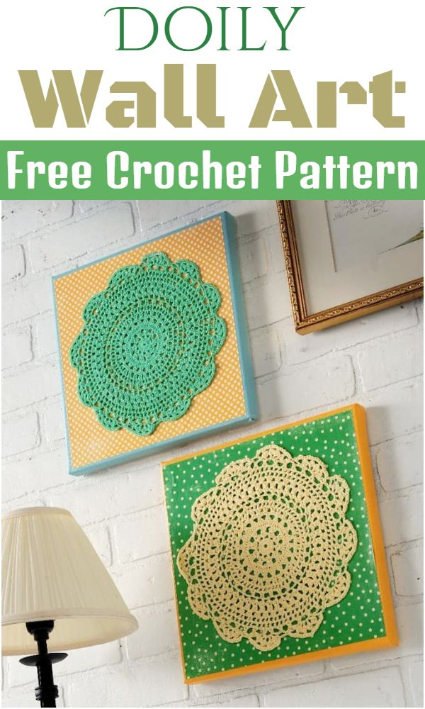Free Crochet Doily Wall Art Pattern