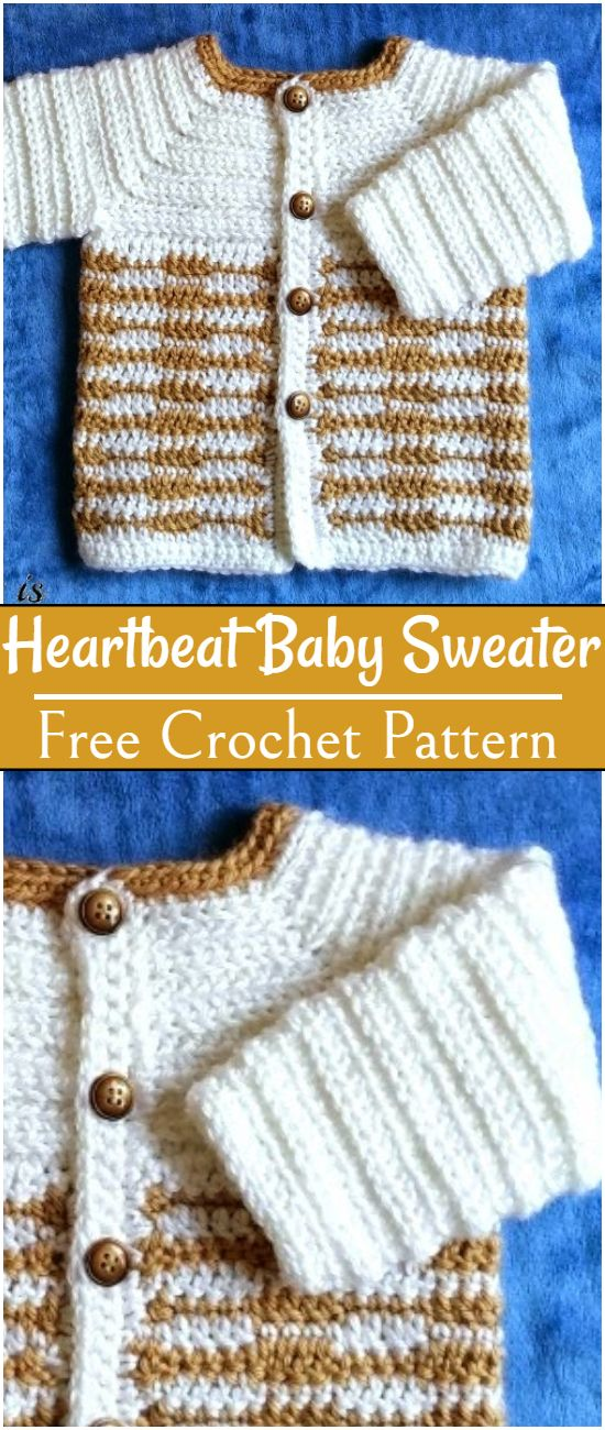 Free Crochet Heartbeat Baby Sweater Pattern