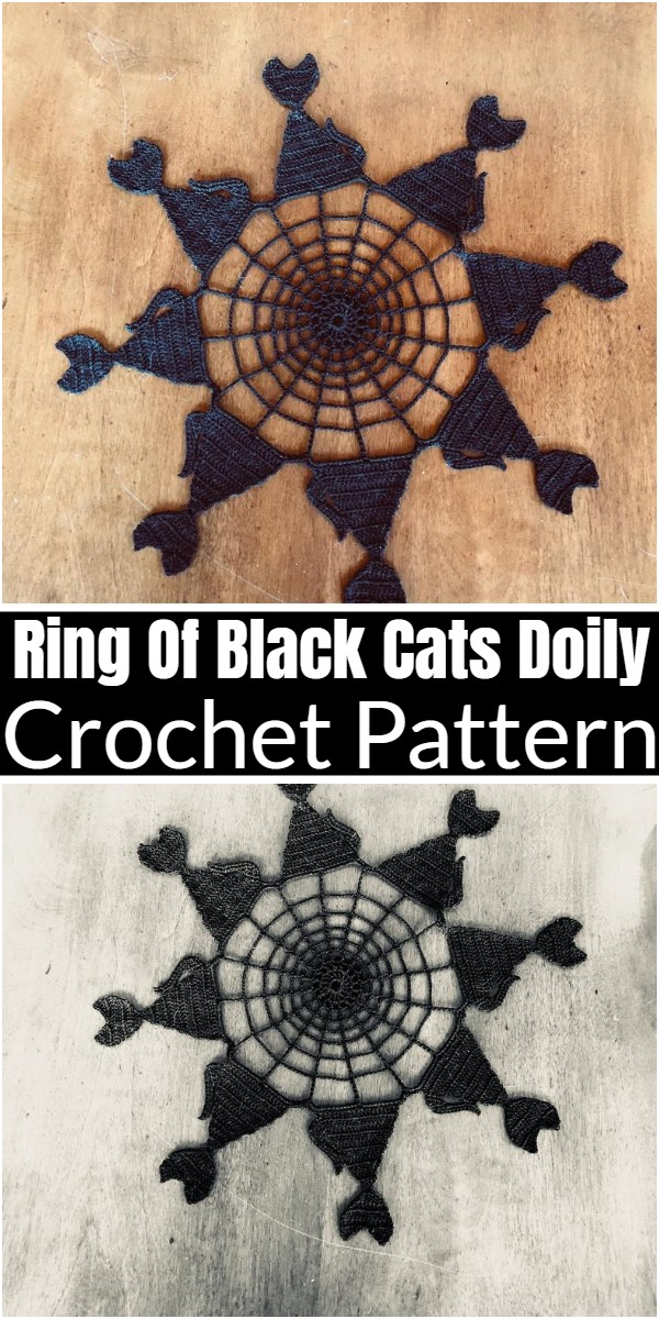 Ring Of Black Cats Doily Pattern