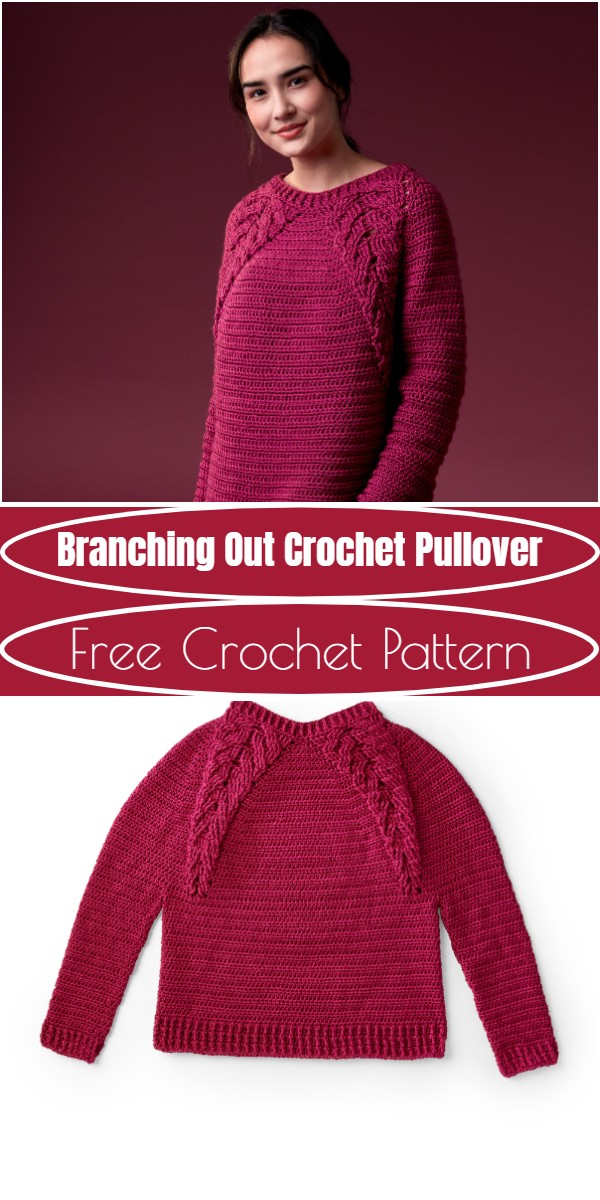 Branching Out Crochet Pullover