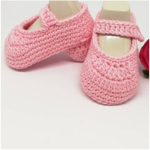 Crochet Easy Baby Booties pattern 12