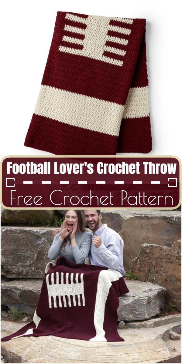 Football Lover's Crochet Throw