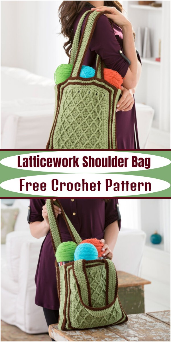 Latticework Shoulder Bag
