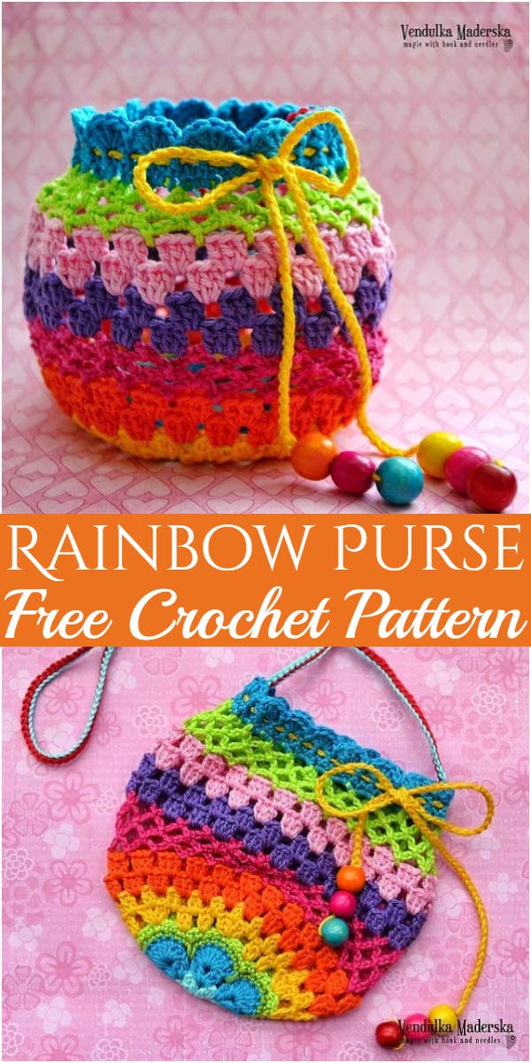 Rainbow Purse Crochet Pattern