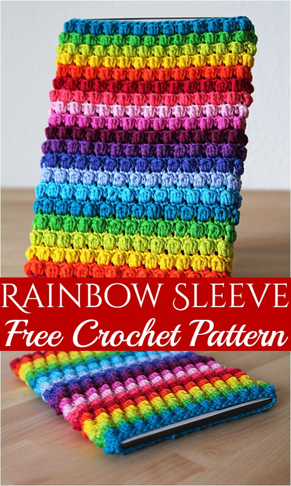 Rainbow Sleeve Free Crochet Pattern
