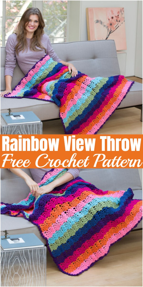Rainbow View Throw
