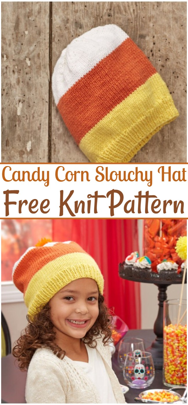 Candy Corn Slouchy Hat