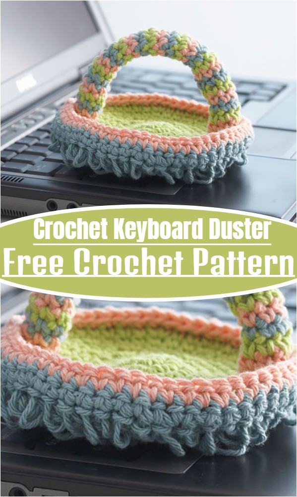 Crochet Keyboard Duster