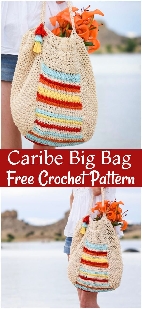Free Crochet Caribe Big Bag Pattern