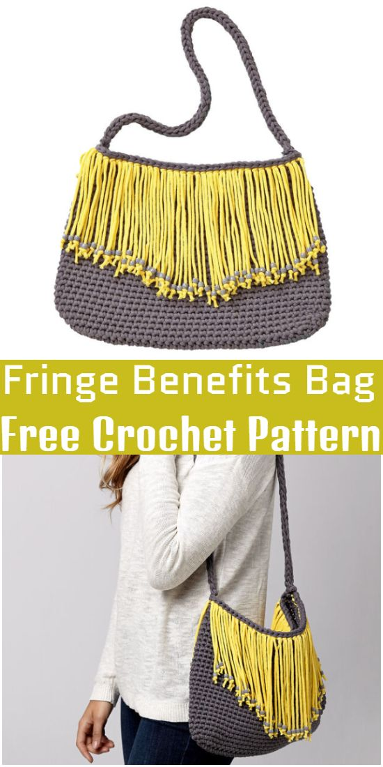 Free Crochet Fringe Benefits Bag Pattern