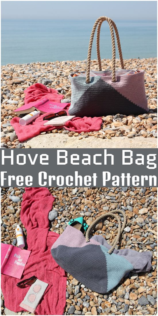 Free Crochet Hove Beach Bag Pattern