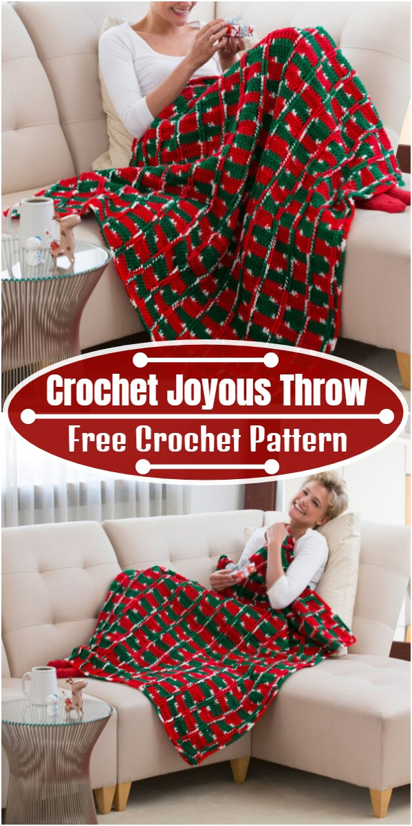 Free Crochet Joyous Throw